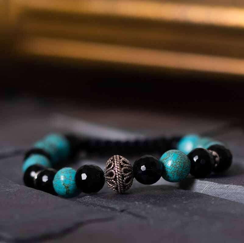 925 Sterlingsilber Handmade Edelstein Türkische Onyx Armband